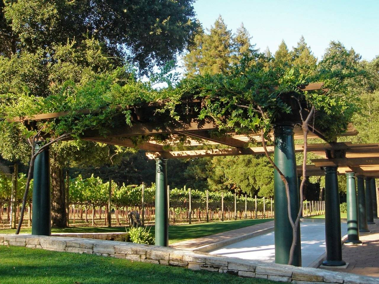 Vineyards courtyard arches